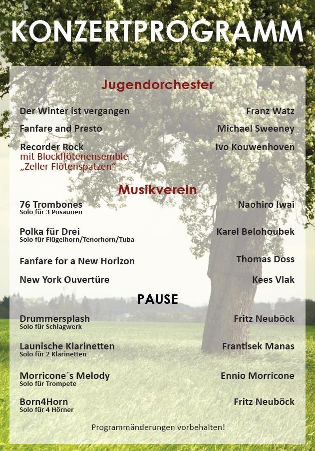 Musikverein Eberstalzell - Frühjahrskonzert 2017